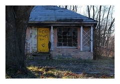Adore Way to God (TooLoose-LeTrek) Tags: detroit urbandecay god abandonedhouse house abandon blight yellow door