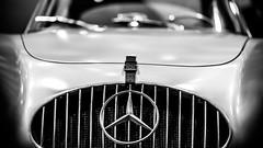 Old Skool Mercedes (Thomas Hawk) Tags: cobocenter cobohall detroit fordnaias mercedes mercedesbenz michigan naias naias2012 northamericaninternationalautoshow northamericaninternationalautoshow2012 usa unitedstates unitedstatesofamerica autoshow bw fav10 fav25