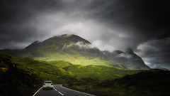 Take the high road.... (Einir Wyn Leigh) Tags: landscape scotland uk mountains road storm cloud colorful contrast rural light nikon darkness outdoors travel park national