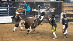 Circle of Safety (OJeffrey Photography) Tags: cowboy bullrider rodeoclowns rodeoclown arena denvernationalwesternstockshow nationalwesternstockshow pbr event pbrevent rodeo bullriding pano panorama ojeffreyphotography ojeffrey jeffowens nikon d850