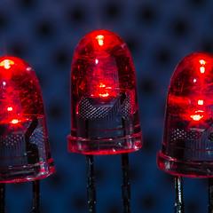 LED's (tom.leuzi) Tags: canonef100mmf28usmmacro led macromondays closeup macro red rot light canoneos6d thefirstletterofmysurname l electronics hmm canonef100mmf28macrousm