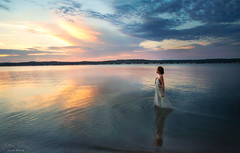 Walk Away ({jessica drossin}) Tags: jessicadrossin portrait lake water sky sunset alone color reflection wwwjessicadrossincom bestportraitsaoi