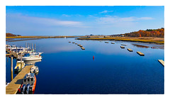 North River (Timothy Valentine) Tags: 2018 foliage boats trees river sky 169 1118 clichésaturday large scituate massachusetts unitedstates us