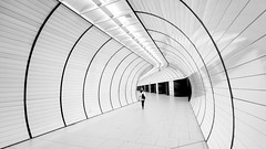 Going Underground (Sean Batten) Tags: germany munich bavaria europe eu blackandwhite bw nikon d800 1424 city urban metro subway underground tunnel tube marienplatz