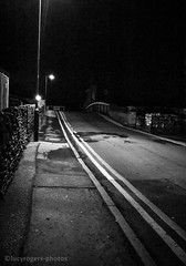 Night Life (lucyrogersphotography) Tags: blackandwhite street streetphotography knottingley uk yorkshire roads junction intersection doubleyellows bridge
