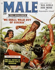 Male Vol. 9, No. 1 (January 1959). Cover Art by Stan Borack (lhboudreau) Tags: pulp pulparr magazineart magazinecover pulpcover pulpadventuremag magazine magazines mensadventuremagazine mensadventuremagazines adventuremagazine adventuremagazines pulpmagazine pulpmagazines mensmagazine mensmagazines action adventure actionmagazines actionmagazine malemagazine illustration art painting artwork coverart volume9number1 man outdoor outdoors jungle tree trees 1959 january1959 palm palms vintagemagazine coverofamagazine male fight ifoughtthebloodsuckersofceylon allgirlsaremine formen weshallwalkoutofsiberia borack stanborack native natives savage savages spear damselindistress ladyinperil helplesswoman gun pitjendajaraisland henrymudge henrymudgesorder gisecret frenchgirlsbedroom