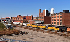 "Eastbound Transfer in Kansas City, MO (""Righteous"" Grant G.) Tags: up union pacific railroad railway locomotive train trains east eastbound transfer freight yard job kansas city missouri emd power"