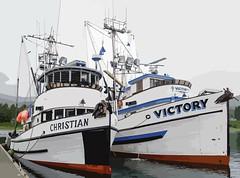 Christian with Victory, Statter Harbor, Auke Bay (Gillfoto) Tags: christian victory commercialfishing boat woodenboat woodboat fishingboat fishingboats juneau southeastalaska alaskapanhandle alaska alaskanpanhandle insidepassage
