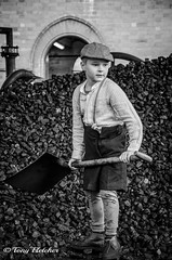 'SETH IN THE COAL HEAP' (tonyfletcher) Tags: papplewickpumpingstation1940s papplewickpumpingstation tonyfletcher wwwtonyfletcherphotographycouk wwwwhitbygothscenecouk 1940sevent portraits 40s homefront ww2