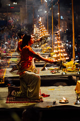 Dancing with Fire, Varanasi India (AdamCohn) Tags: adam cohn ganga ganges india uttarpradesh varanasi aarti ceremony fire ghat night smoke streetphotographer streetphotography wwwadamcohncom adamcohn