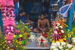 flowers for sale (s.v.e.n.) Tags: kolkata calcutta city street mullick ghat flower market sale canon 5dmkii 35mm f14