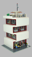 Modernes Bürogebäude (Modern Office Building) 01 (-Nightfall-) Tags: lego moc modern office building modularbuilding modular architekt architect