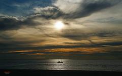 Trawler (Lutz Koch) Tags: krabbenkutter trawler kutter ship schiff borkum nordsee northsea sea see meer sky himmel sonne sun wolken clouds gegenlicht backlight elkaypics lutzkoch niedersachsen lowersaxony osfriesland frisia shrimpboat fischfang fischer fisherman