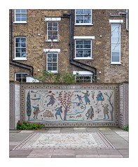 The Built Environment, East London, England. (Joseph O'Malley64) Tags: thebuiltenvironment newtopography newtopographics manmadeenvironment manmadestructures buildings structures architecture architecturalphotography architecturalfeatures urbanlandscape urban mosaic tiling tessellated tessellatedtiles art artistry artwork wall walls communityart victorianbuilding victorian flats housing homes dwellings abodes hackney eastlondon eastend london england uk britain british greatbritain brickwork bricksmortar cement pointing sashwindows upvcdoubleglazing doubleglazing repairs renovationwork remedialwork lintels bricklin stonelintels flues vents drainpipes plants shrubs pavement pavingslabs fujix fujix100t britishdocumentaryphotography documentaryphotography accuracyprecision