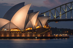 Sydney Classic Views (luaP_Paul) Tags: sydney opera house cbd harbour bridge water sea blue lights night sky clouds sunset australia aus nsw fuji fujifilm xt20