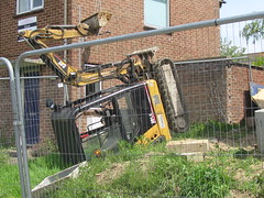 Mini-Excavator Accident, Building Site (rayyaro) Tags: building buildingworks buildingsite excavators accident outdoors