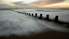 Step Lightly (PeskyMesky) Tags: aberdeen aberdeenbeach longexposure sunrise sunset scotland beach sand water sea sky ocean canon canon5d eos
