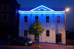 20190129-07-Blue neon (Roger T Wong) Tags: 2019 australia hobart rogertwong sel24105g sony24105 sonya7iii sonyalpha7iii sonyfe24105mmf4goss sonyilce7m3 tasmania blue building city evening neon night