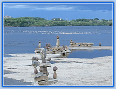 Missing Summer At Remic Rapids (bigbrowneyez) Tags: sculptures summer hot remicrapids river ottawa canada beautiful fabulous outdoors fume fuore striking stunning amazing delightful rockart rockbalance sky cielo seagulls birds ducks wings feathers trees forest acua rocks