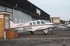 N644BL (IndiaEcho) Tags: n644bl beech a36 bonanza egtf fairoaks airport airfield chobham surrey england light ceneral civil aircraft aeroplane aviation canon eos 1000d