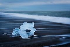 Icy Eye (Matt Thalman - Valley Man Photography) Tags: atlanticocean diamondbeach easternregion iceland blacksand blacksandbeach glacialice ice ocean sand water wave waves