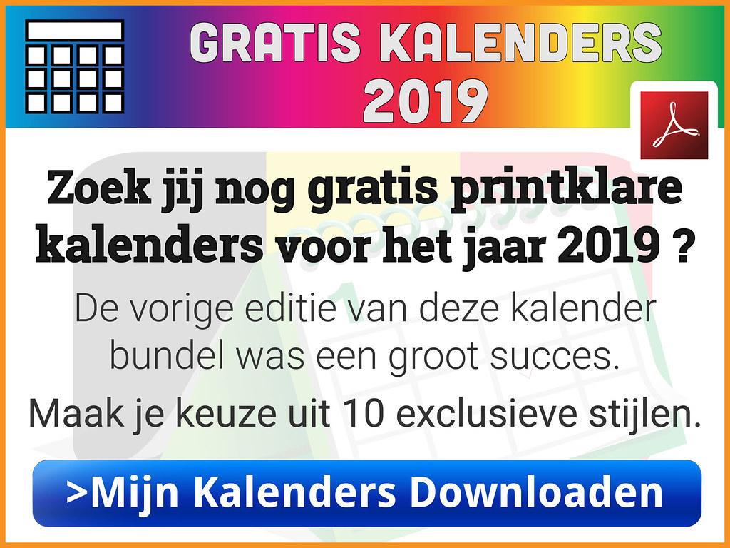 kalender 2019 met weeknummers downloaden