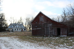 House Of Six Gables (ballclub40- Picking up the pieces.....) Tags: rural midwest iowa farmhouse abandoned derelict