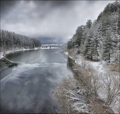 l'area del quadrato (Gio_guarda_le_stelle) Tags: lake first snow cool gray frozen trees woods clouds storm landscape firstsnow coolbreeze sila ice