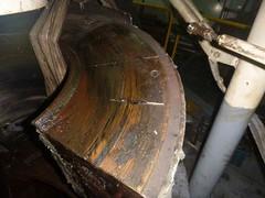 Resize of P1360531 (OpalStream) Tags: rudder marine vessel repair works overhauling workshop measurements filler gauge dirt
