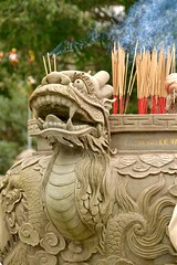 A Quick Smoke (adamsgc1) Tags: offering smoke incense sunworld banahills vietnam dragon