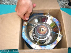 Putting away a Coleman Single Burner Propane Stove (Anne's Travels3) Tags: coleman propane stove review green