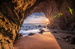 Malibu Beach Sea Cave Sunset Red & Orange Clouds Fine Art El Matador State Beach California Landscape Seascape Photography! Sony A7R III & Sony FE 16-35mm f/2.8 GM G Master Lens! High Res 4k 8K Photography! Elliot McGucken Pacific Ocean! Sony A7RIII A7R3! (45SURF Hero's Odyssey Mythology Landscapes & Godde) Tags: malibu sea cave sunset red orange clouds fine art el matador state beach california landscape seascape photography sony a7r iii fe 1635mm f28 gm g master lens high res 4k 8k mcgucken pacific ocean a7riii a7r3