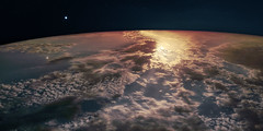 Pyrotechnics (Fabrice Gillet) Tags: night sky moon mars planet scifi clouds stars