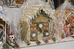 Gingerbread House Decorated by Banquets (NottawasagaResort) Tags: nottawasagaresort nottawasaga nottawasagainn nottawasagainnresort inn resort hotel raffle humane society gingerbread gingerbreadhouse candy house chocolate frosting christmas charity alliston allistonontario donation staff event dogs cats pets sugarplumfair sugar plum fair spf barbie cookie monster local animals