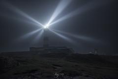 Creac'h, Night and Fog (Tony N.) Tags: france bretagne finistère finistere ouessant creach phare lighthouse nuit night brouillard fog light lumière faisceaux d810 nikkor1635f4 nikon vanguard tonyn tonynunkovics paysage landscape