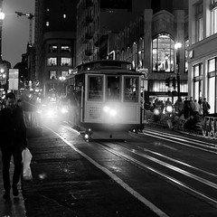 cable car by night (jefdgeo) Tags: cable car san francisco night nuit lumière transport powel market bay taylor
