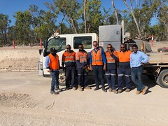 Bama Services Peninsula Development Road works, Musgrave River, Cape York 10/10/2018
