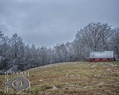 The Iceman Cometh... (Peeping Dragon Photography) Tags: ice storm fall trees field farm building barn west virginia wv nikon d500