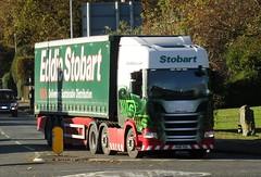 Eddie Stobart PK18 YKX (Melina Louise) at Welshpool (Joshhowells27) Tags: lorry truck scania curtainsider eddiestobart pk18ykx melinalouise