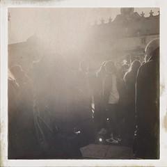 Crowd. in light (William Nessuno) Tags: hipstamatic helgaviking uchitel20 blackandwhite bw monochromatic streetphotography