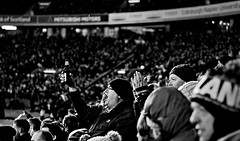 Rugby Roar! (matthewblackwood10) Tags: murrayfield light colour stadium stadia arena rugby sport scotland edinburgh uk winter autumn cold metal bright lights concrete night black white grey cheers beer roar people crowd man bottle goal try