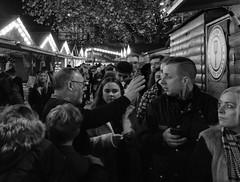 Christmas Spirit, Christmas Markets, Albert Square, Manchester (_p_e_r_s_e_p_h_o_n_e_) Tags: manchester manchestertownhall albertsquare christmasmarkets monochrome streetphotography canoneos80d affinityphoto