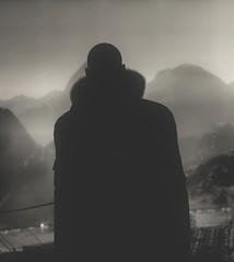 Silent Assassin (kevin_grimes) Tags: hitman2 monochrome portrait 47 assassin ansel mountains
