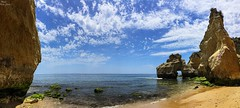 Algarve (Peideluo) Tags: travel beach sea sky clouds water waterscape landscape nature panoramica