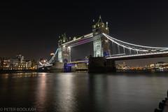 Tower Bridge (pboolkah) Tags: london england unitedkingdom gb water thames city bridge towerbridge night uk canon canon5d river canon5dmkiv