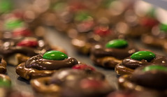 Christmas baking..... (Kevin Povenz Thanks for all the views and comments) Tags: 2018 december kevinpovenz christmas baking mm pretzel chocolate green red