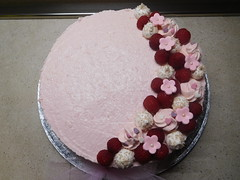 Cheesecake in rosa (dolciefantasia) Tags: biscotti cake cakedesign cakepops compleanno cupcake decorazione dolci dolciefantasia fantasia festa minicake pastadizucchero torta cheesecake lamponi meringhe