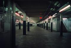 (Chris Giuliano) Tags: philadelphia subway 35mmfilm filmphotography desolate underground concourse night canonae1 cinestill800