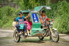 School Run (Beegee49) Tags: street children tricycle public transport happyplanet man sony a6000 bacolod city philippines asia motorcycle asiafavorites