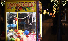 Toy story (jimiliop) Tags: puppets dolls toys stars christmas mickey street game night